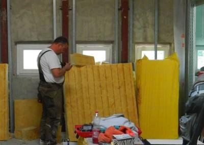 Dämmarbeiten in einer Dachgeschosswohnung