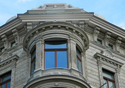 Detailansicht der Erkerfassade