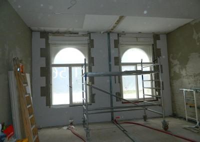 Multipor-Innendämmung in der Gewerbeeinheit im Erdgeschoss