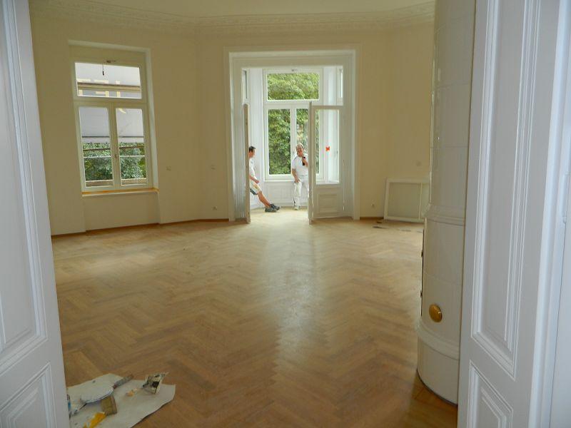 Erkerzimmer kurz vor Fertigstellung