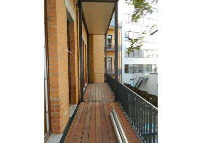 Ansicht eines Balkons nach dem Anbau