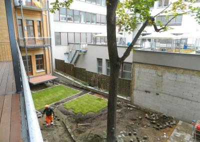 Arbeiten an der Außenanlage
