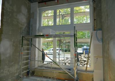 Einbau der Multipor-Innendämmung im Erdgeschoss