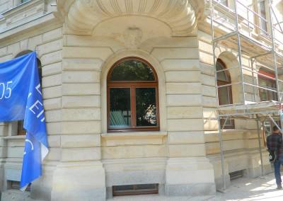 Ansicht des neuen Erkerfensters im Erdgeschoss
