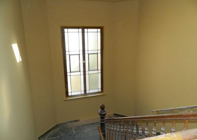 Grundierung im Treppenhaus Täubchenweg