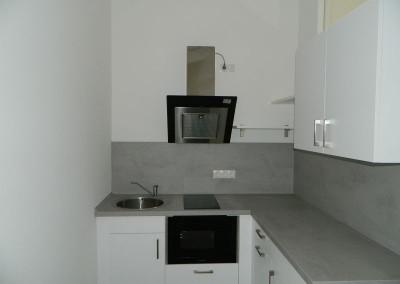 Küche einer Apartmentwohnung