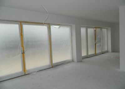Wohnküche nach Beendigung der Malerarbeiten
