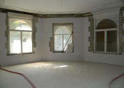Erkerzimmer im Erdgeschoss mit angebrachter Multipor-Innendämmung