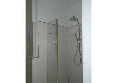 Detailansicht der Duscharmatur in einem Gäste-WC