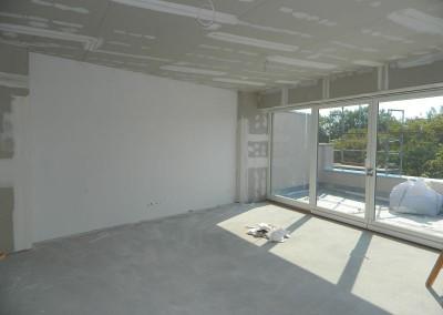 Dachgeschosswohnung in der Trockenbauphase