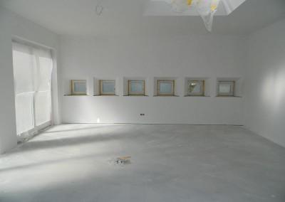 Malerarbeiten in einer Dachgeschosswohnung