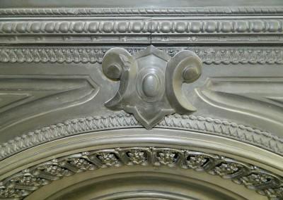 Detailansicht des Kamins
