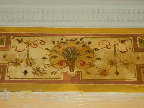 Detailansicht einer Wandmalerei