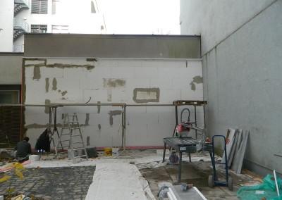 Wandbegradigung zum Nachbarn im Hofbereich