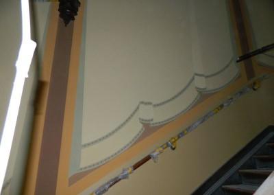 Beginn der Ausmalung des Treppenhauses