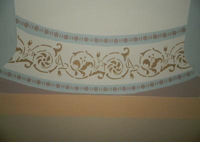 Detailansicht der Schabloniermalerei