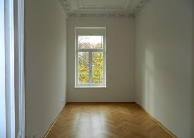 Wohnraum mit Blick auf das Grassimuseum