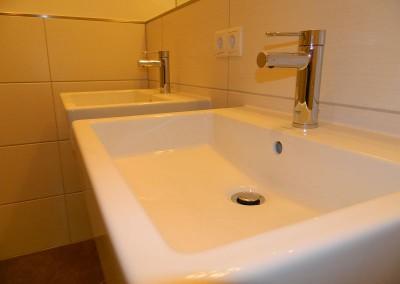 Detailansicht der Waschplätze