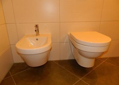 Detailansicht von WC und Bidet
