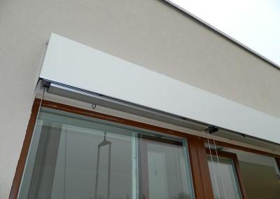 Jalousien für die Verschattung der Terrassenfenster