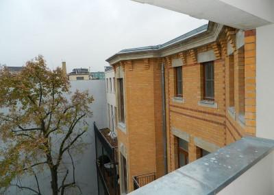 Blick auf die Hoffassade