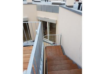Treppenanlage von der Galerie aus gesehen