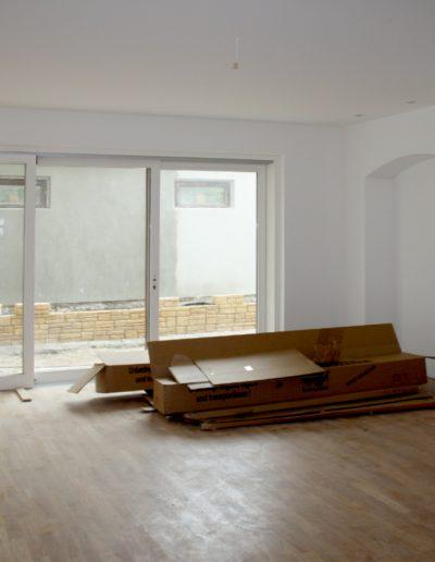 Wohnzimmer im Bau